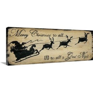 Christmas Art 'Merry Christmas To All' by Jo Moulton Textual Art on Wrapped Canvas by Great Big Canvas