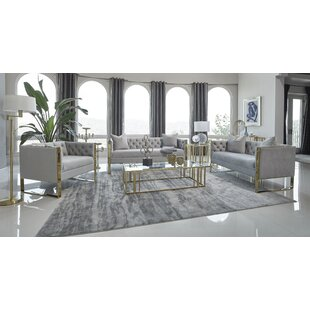 Mielle Velvet Configurable Living Room Set by Everly Quinn