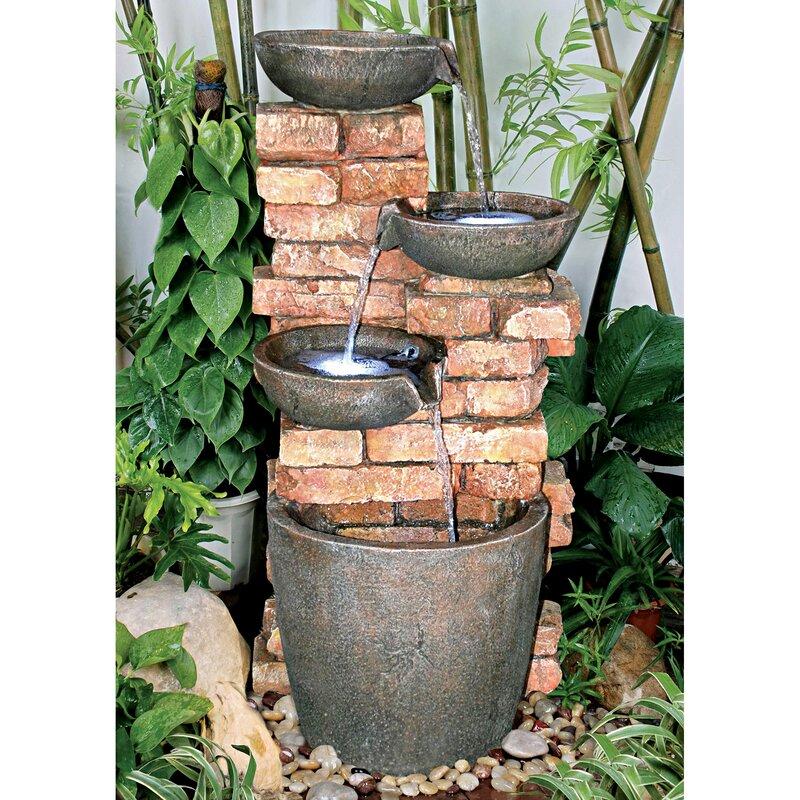 Wildon Home Stacked Bricks Cascading