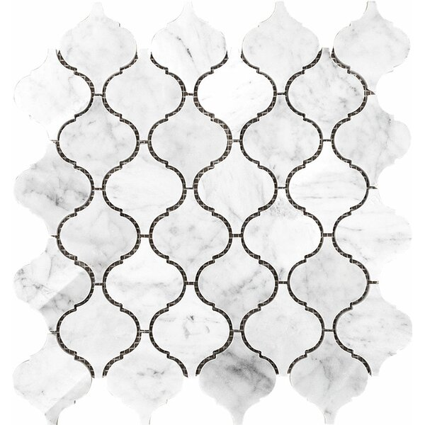 Santa Maria Carrara Mosaic Tile in White Polished by Parvatile