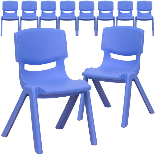 12'' Plastic Classroom Chair (Set of 10) by Flash