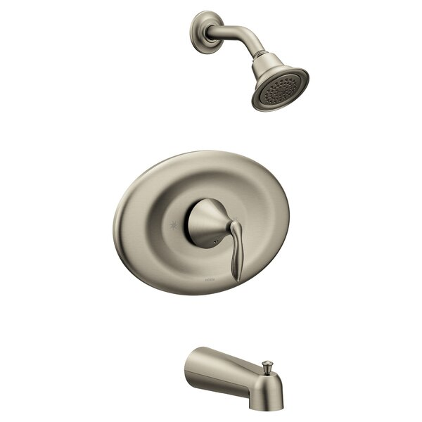 Eva Conversion Tub and Shower Faucet with Metal Lever Handle by Moen