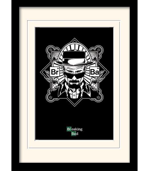Art Group Obey Heisenberg Breaking Bad Framed Graphic Art Print ...