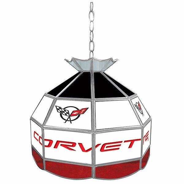 Corvette 16 Stained Glass Round Tiffany Lamp by Trademark Global
