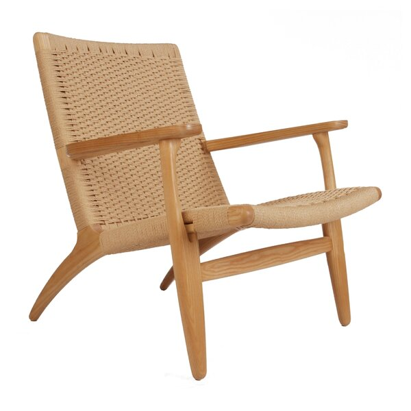Herrod Rattan Patio Chair by Bungalow Rose