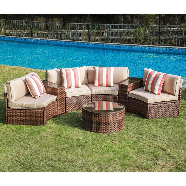 Rasmus 7 Piece Sofa Seating Group with Cushions by Latitude Run