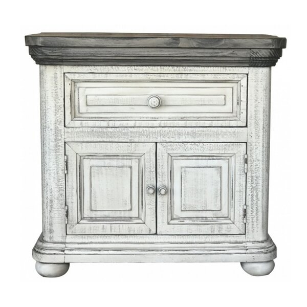 Leni 1 Drawer Nightstand by One Allium Way