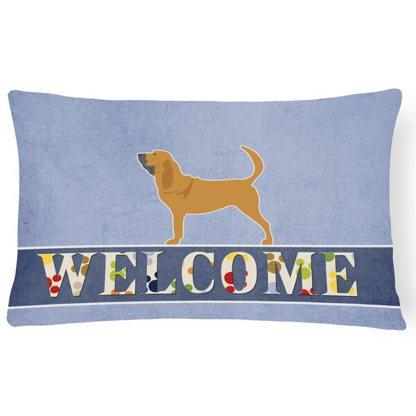 Elwyn Bloodhound Welcome Lumbar Pillow by Red Barrel Studio