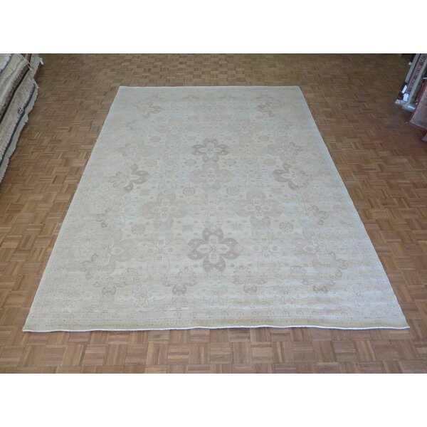 One-of-a-Kind Railsback Oushak Hand-Knotted Beige Area Rug by Astoria Grand