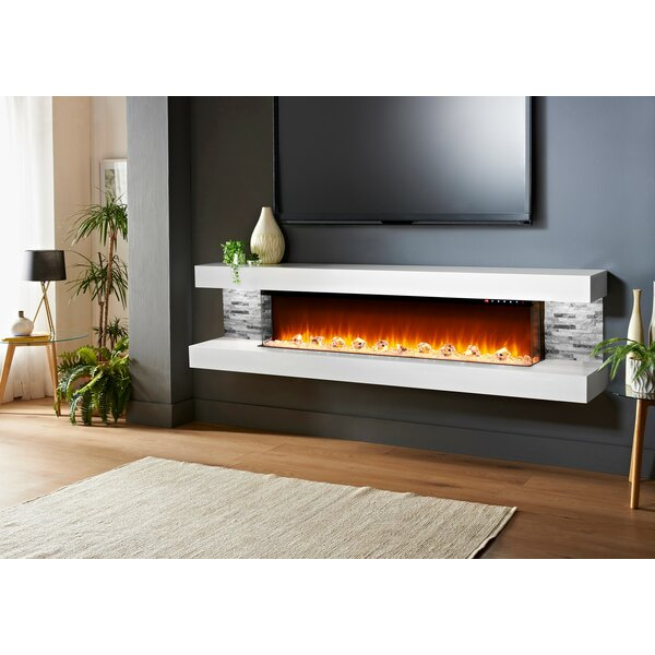 Mahalick Wall Mounted Electric Fireplace By Orren Ellis