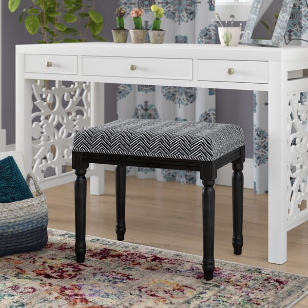 Oakhaven Stool Black Legs by Bungalow Rose