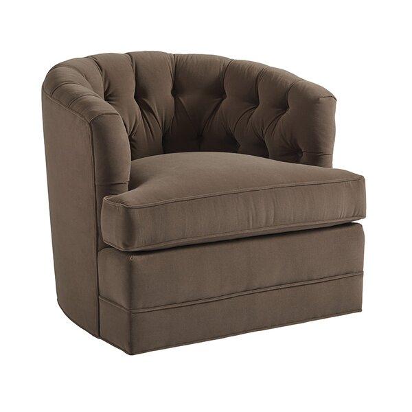 Cliffhaven Swivel Barrel Chair By Barclay Butera