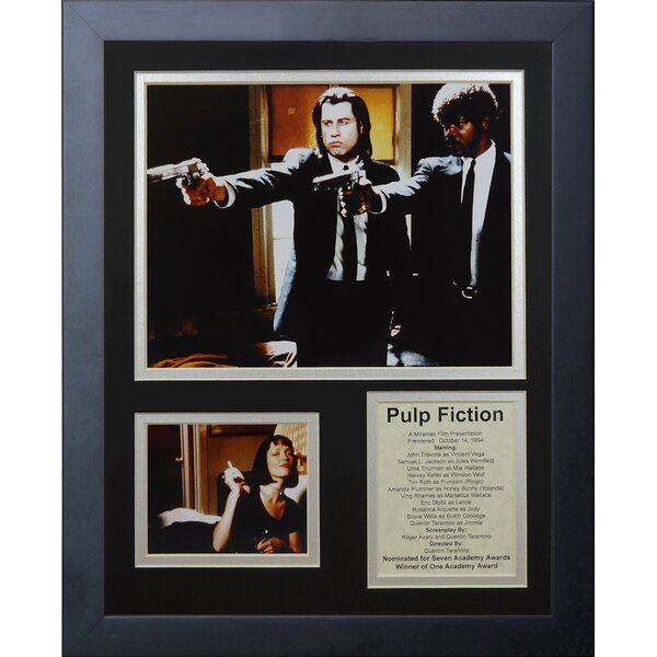 Pulp Fiction Framed Memorabilia by Legends Never Die