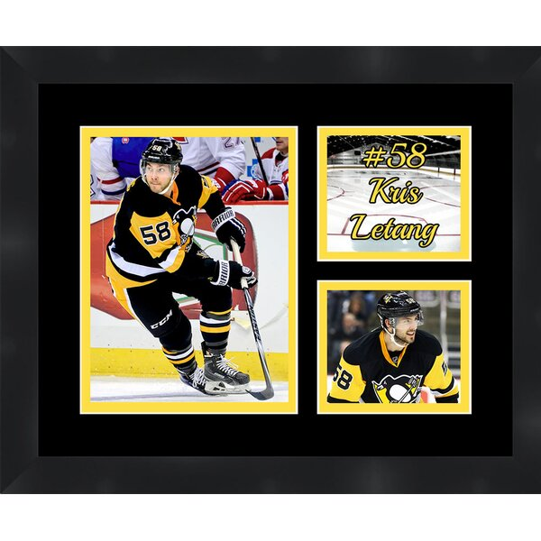 Pittsburgh Penguins Kris Letang 58 Photo Collage Framed Photographic Print by Frames By Mail