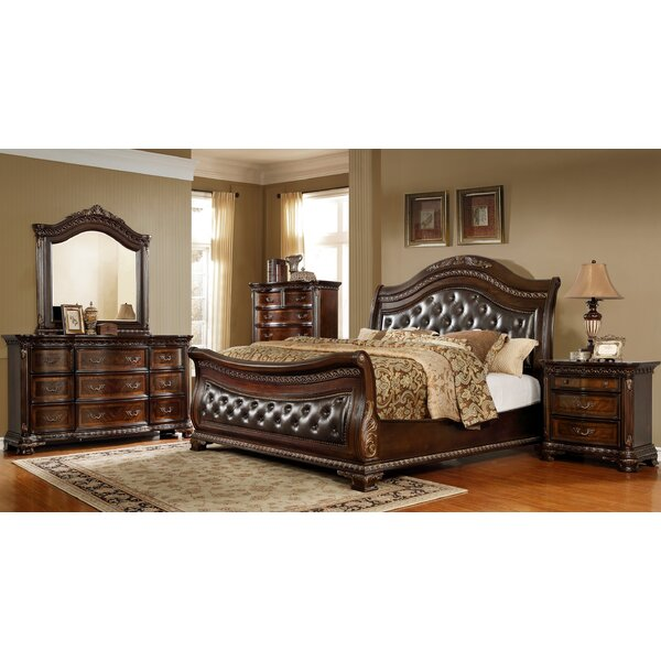 Prange Sleigh 4 Piece Bedroom Set by Astoria Grand
