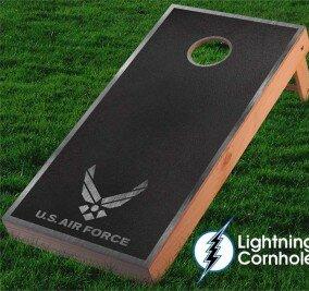 Air Force Textured Cornhole Board by Lightning Cornhole