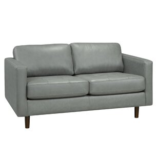 Len Genuine Leather Loveseat
