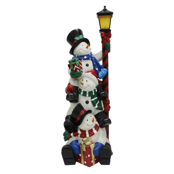 Stacking Snowmen Lamp Post with LED by The Holiday Aisle