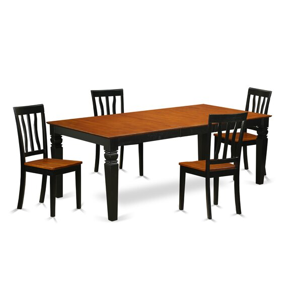 Beesley 5 Piece Extendable Solid Wood Dining Set by Darby Home Co Darby Home Co