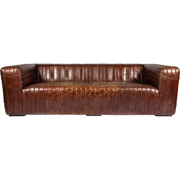 Andréa Leather Sofa by 17 Stories
