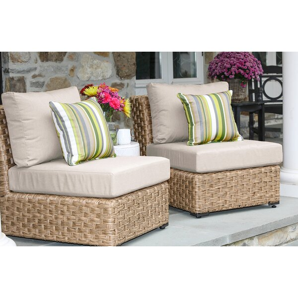 St. Johns Armless Patio Chair with Cushions (Set of 2) by Bay Isle Home