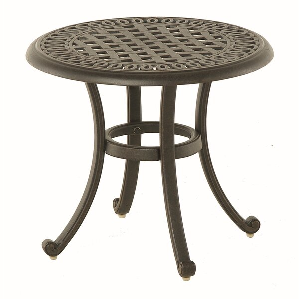 Merlyn Metal Side Table by Fleur De Lis Living