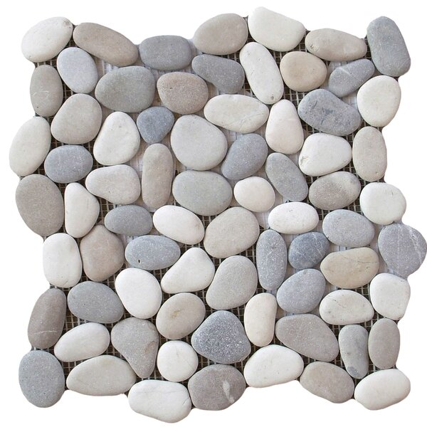 Venetian Pebbles 12 x 12 Mosaic Tile in Medici Blend by Emser Tile