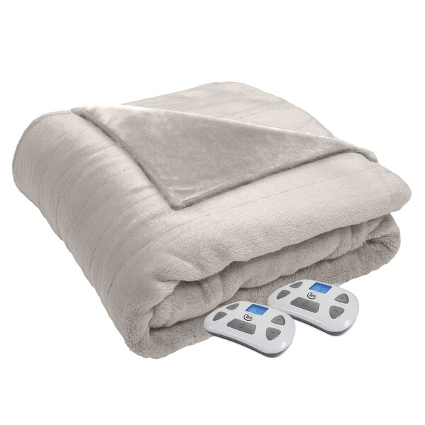 Modern Silky Plush Blanket by Alwyn Home