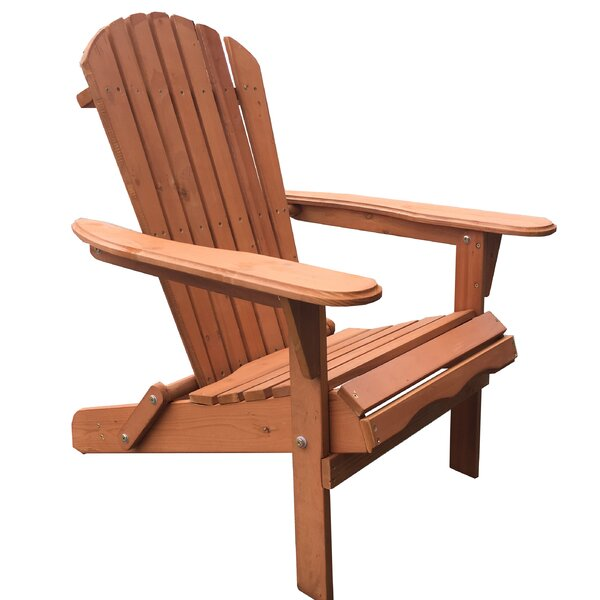 Arana Solid Wood Folding Adirondack Chair (Set of 2) by Breakwater Bay Breakwater Bay