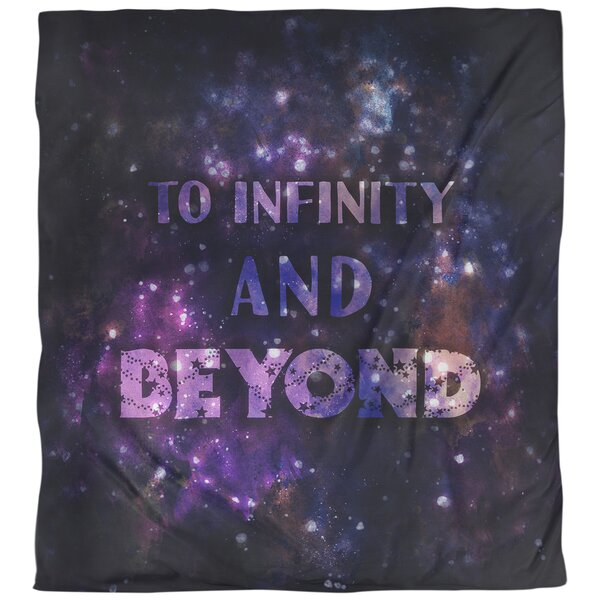 Quotes to Infinity Art Single Reversible Duvet Cover