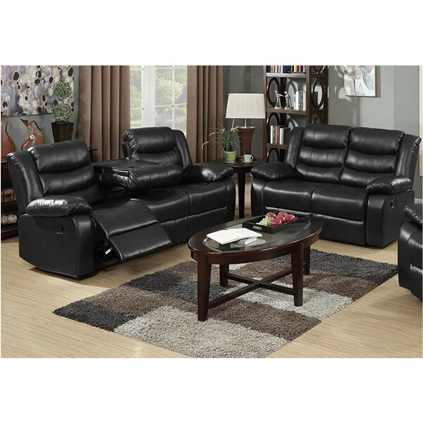 Morais 2 Piece Leather Reclining Living Room Set By Red Barrel Studio Great price