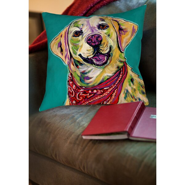 Boca Printed Throw Pillow by Manual Woodworkers & Weavers