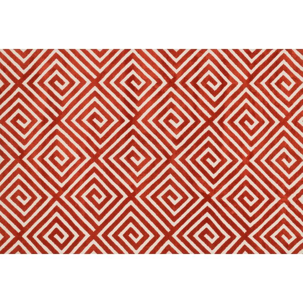 Mazurek Rust Area Rug by Ivy Bronx