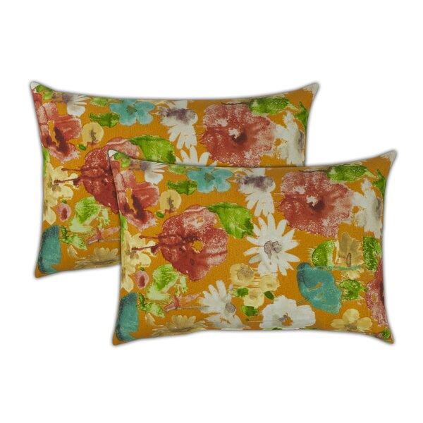 Alcove Boudoir Outdoor Lumbar Pillow (Set of 2) by Sherry Kline
