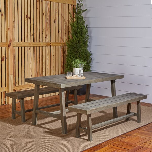 Southport 3 Piece Patio Dining Set by Gracie Oaks