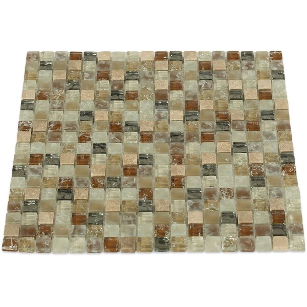 Helter Skelter 0.5 x 0.5 Mixed Material Mosaic Tile in Brown by Splashback Tile
