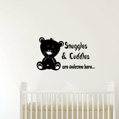 Juana Snuggles and Cuddles Are Welcome Here Teddy Bear Wall Decal by Zoomie Kids
