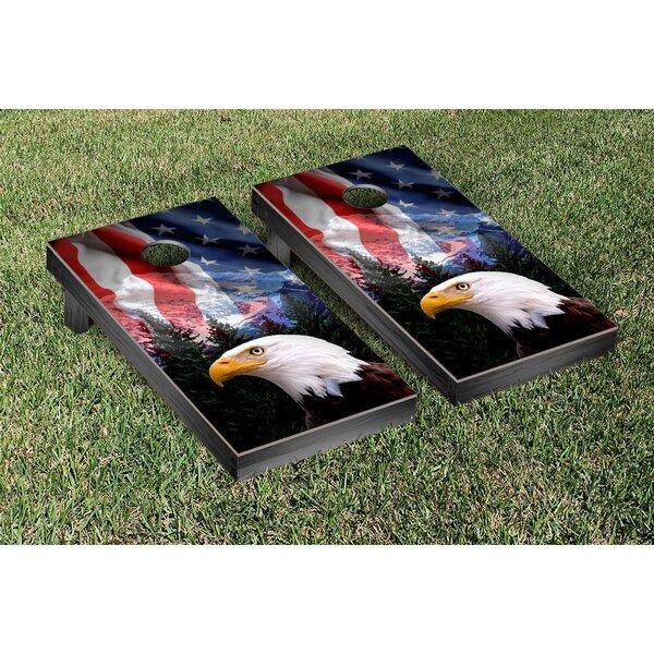 American Eagle USA Mountain Version Cornhole Game Set by Victory Tailgate