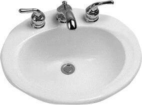 Ceramic Oval Drop-In Bathroom Sink with Overflow by Toto