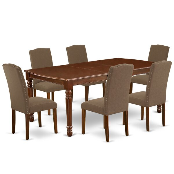 Berton 7 Piece Extendable Solid Wood Dining Set by Darby Home Co Darby Home Co