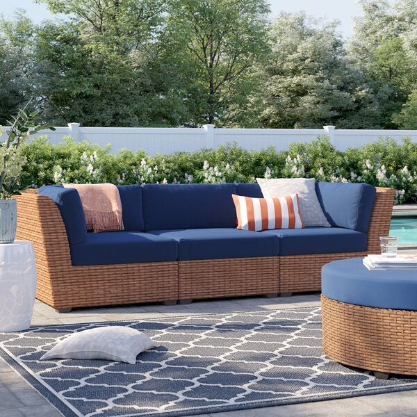 Waterbury Patio Sofa with Cushions by Sol 72 Outdoor Sol 72 Outdoor