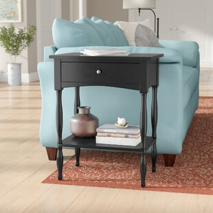 Round Hill End Table With Storage