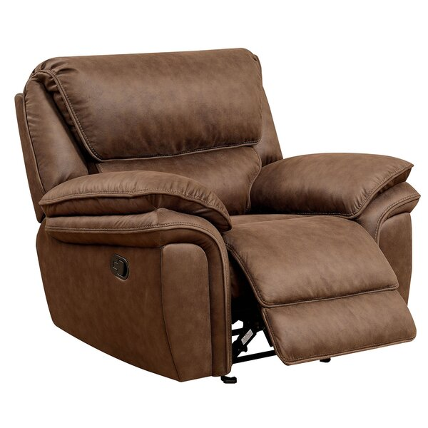 Jaylin Leather Recliner by Millwood Pines