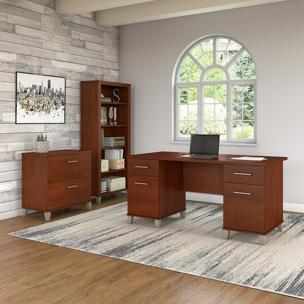 Lumley 3 Piece Desk Office Suite by Red Barrel Studio