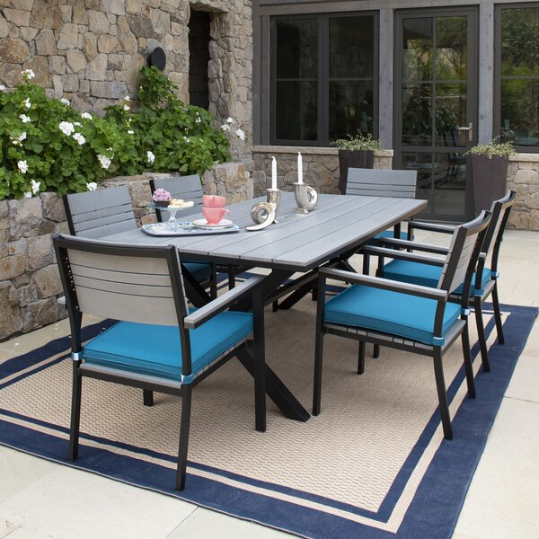 Ilsa 7 Piece Dining Set with Cushions by Latitude Run