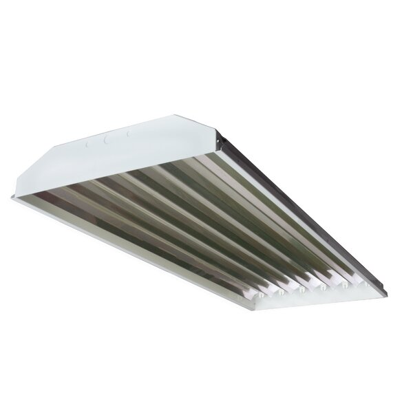6-Light High Bay Fluorescent Light Fixture with 54W T5 Bulb by Howard Lighting