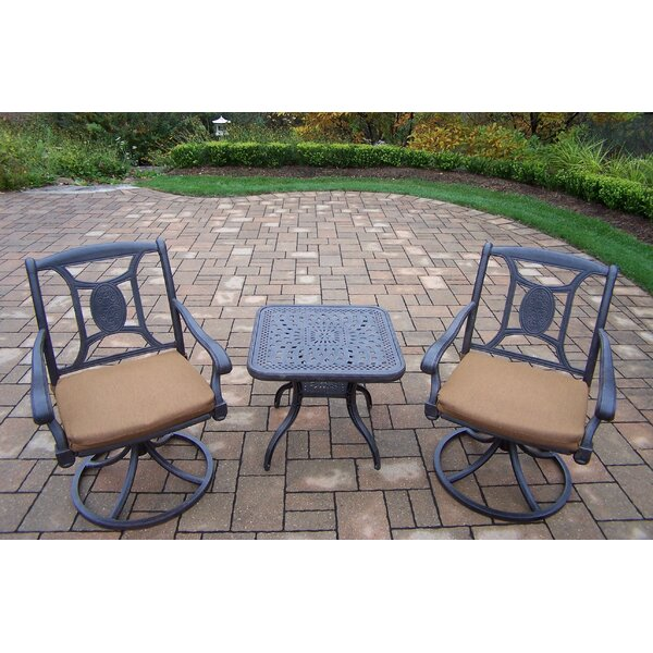 Zonia 3 Piece Dining Set with Cushions by Charlton Home