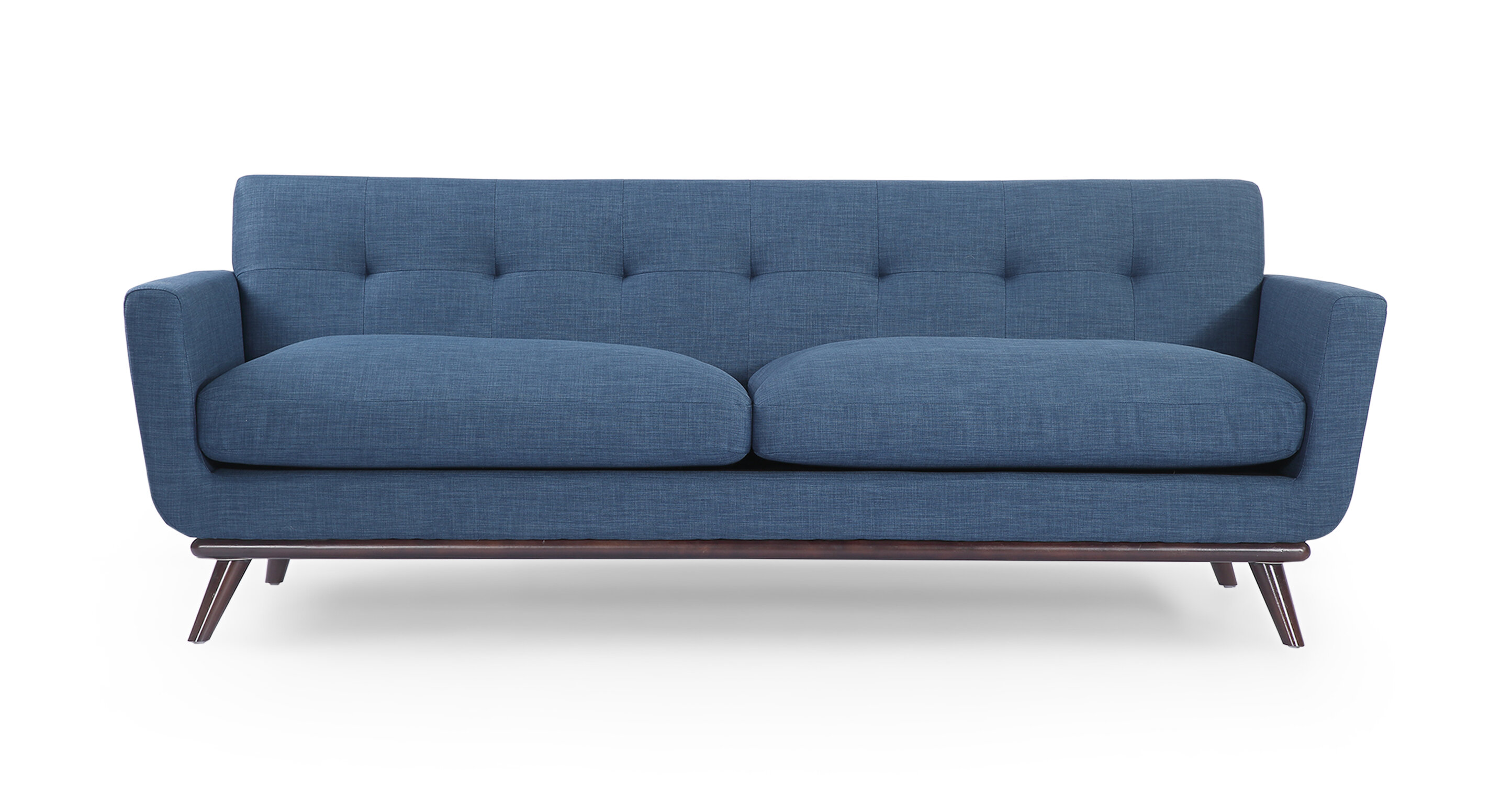 Vintage couch Wood Frame Corrigan Studio Luther Mid Century Modern Vintage Sofa With Wood Legs Reviews Wayfair 123rfcom Corrigan Studio Luther Mid Century Modern Vintage Sofa With Wood