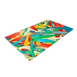 Danny Ivan Soccer Slide Crazy Rainbow Area Rug