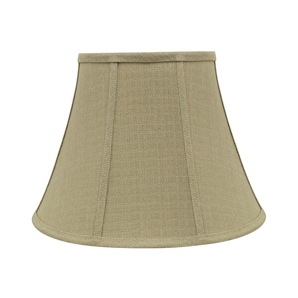 9.5 H Linen Bell Lamp shade ( Spider ) in Olive
